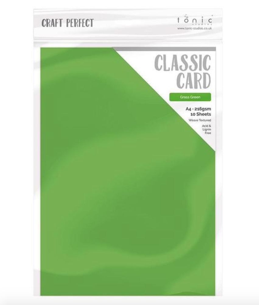 Tonic GRASS GREEN Craft Perfect Classic Weave Textured Cardstock 9635e zoom image