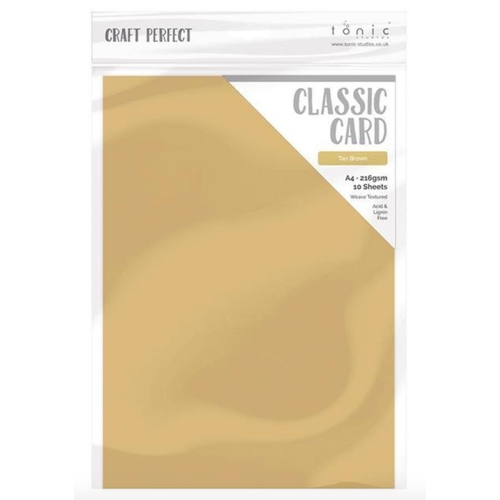 Tonic TAN BROWN Craft Perfect Classic Weave Cardstock 9719e Preview Image