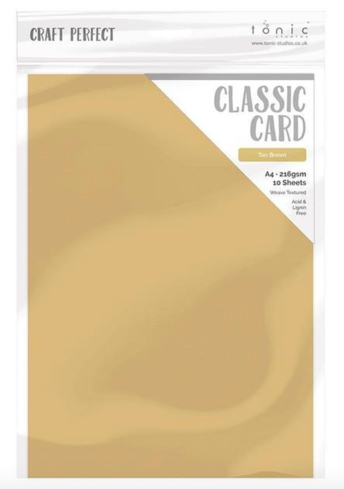 Tonic TAN BROWN Craft Perfect Classic Weave Cardstock 9719e zoom image