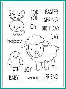 Gina K Designs SPRING JOY Clear Stamps 463