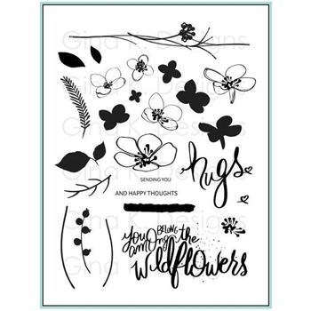 Gina K Designs HUGS AND WILDFLOWERS Clear Stamps 548
