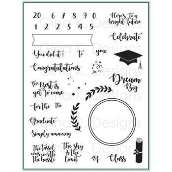 Gina K Designs FOR THE GRAD Clear Stamps 555