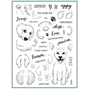 Gina K Designs PUPPIES GALORE Clear Stamps 562