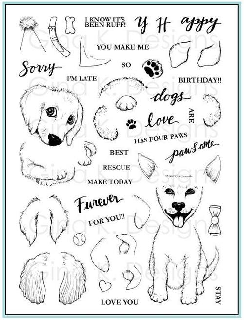 Gina K Designs PUPPIES GALORE Clear Stamps 562 zoom image