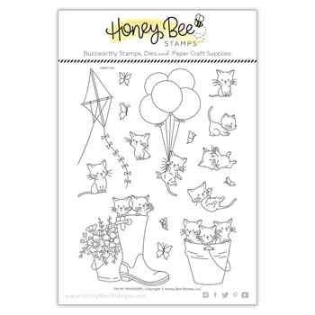 Honey Bee OH MY WHISKERS Clear Stamp Set hbst-161
