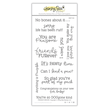 Honey Bee FRIENDS FUREVER Clear Stamp Set hbst-164