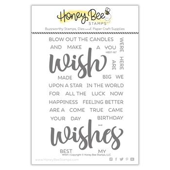 Honey Bee WISH Clear Stamp Set hbst-167*
