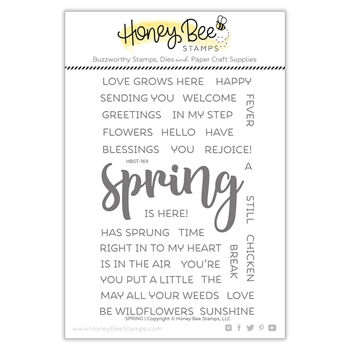 Honey Bee SPRING Clear Stamp Set hbst-169*