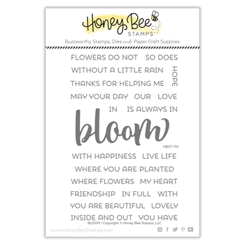 Honey Bee BLOOM Clear Stamp Set hbst-170