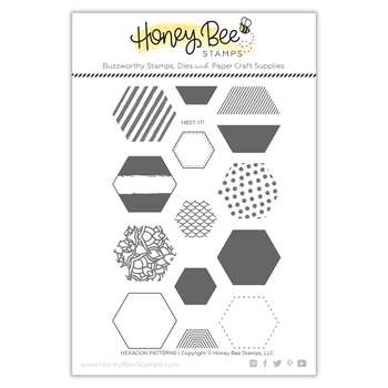 Honey Bee HEXAGON PATTERNS Clear Stamp Set hbst-171