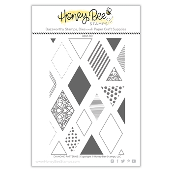 Honey Bee DIAMOND PATTERNS Clear Stamp Set hbst-172