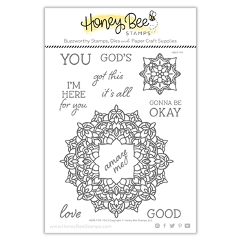 Honey Bee HERE FOR YOU Clear Stamp Set hbst-174
