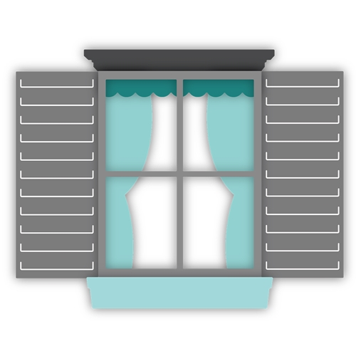 Honey Bee COTTAGE WINDOW Dies hbds-ctw Preview Image