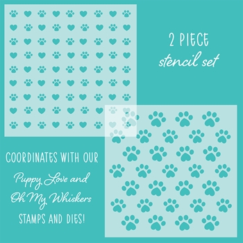 Honey Bee FRIENDS FUREVER Stencils Set of 2 hbsl-16