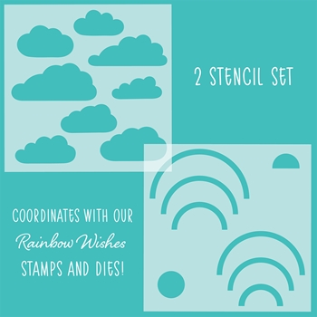 Honey Bee RAINBOW WISHES Stencils Set of 2 hbsl-018