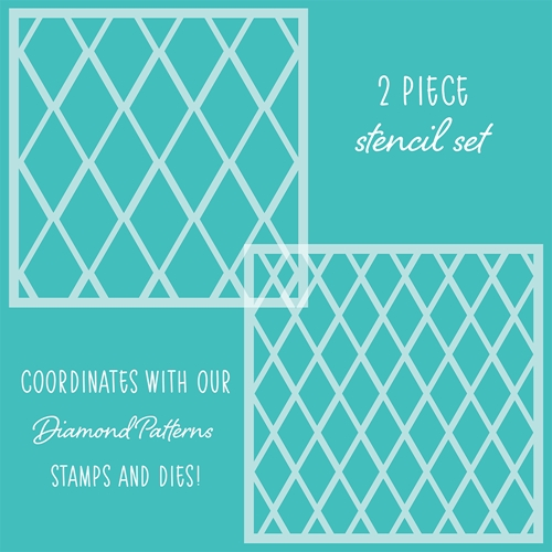 Honey Bee DIAMOND PATTERNS Stencils Set of 2 hbsl-19 Preview Image