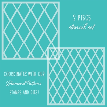 Honey Bee DIAMOND PATTERNS Stencils Set of 2 hbsl-19