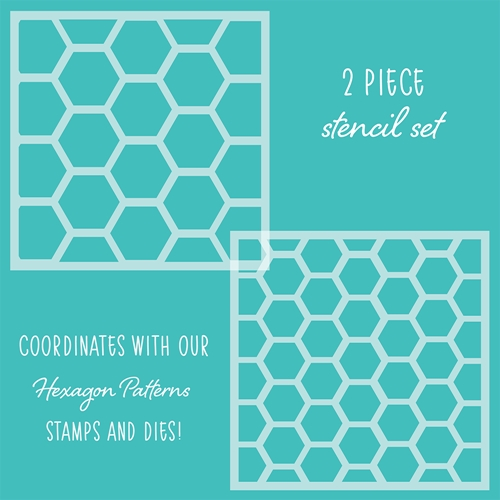 Honey Bee HEXAGON PATTERNS Stencils Set of 2 hbsl-20 Preview Image