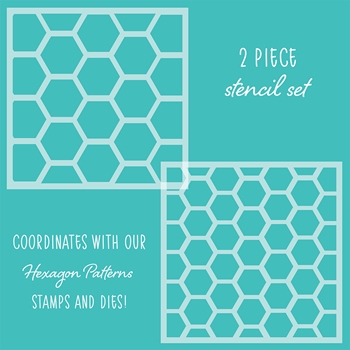 Honey Bee HEXAGON PATTERNS Stencils Set of 2 hbsl-20