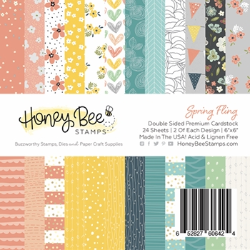 Honey Bee SPRING FLING 6 x 6 Paper Pad hbpa-003