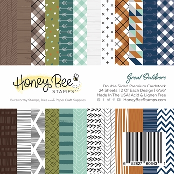 Honey Bee GREAT OUTDOORS 6 x 6 Paper Pad hbpa-004