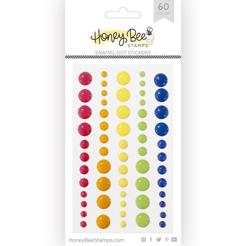 Honey Bee OVER THE RAINBOW Enamel Dot Stickers hbes-002 Preview Image