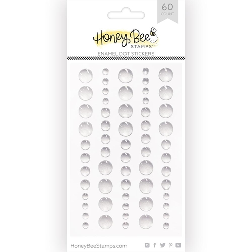 Honey Bee CLEAR GLITTER Enamel Dot Stickers hbes-006 Preview Image