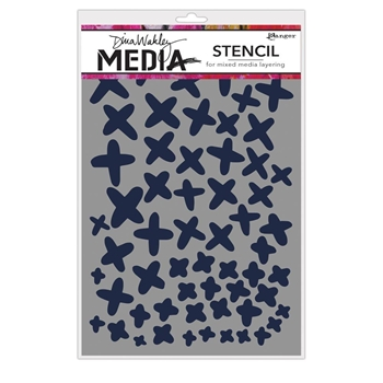 Dina Wakely XS Media Stencil MDS65043