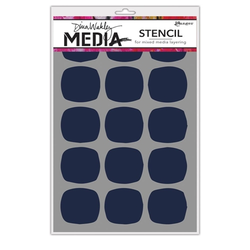 Dina Wakely BIG SQUOVALS Media Stencil MDS64992 Preview Image