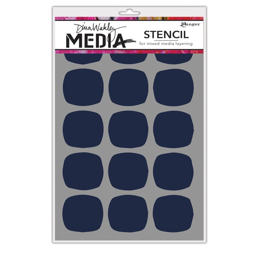 Dina Wakely BIG SQUOVALS Media Stencil MDS64992 zoom image