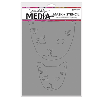 Dina Wakely CAT HEADS Media Mask and Stencil MDS65012