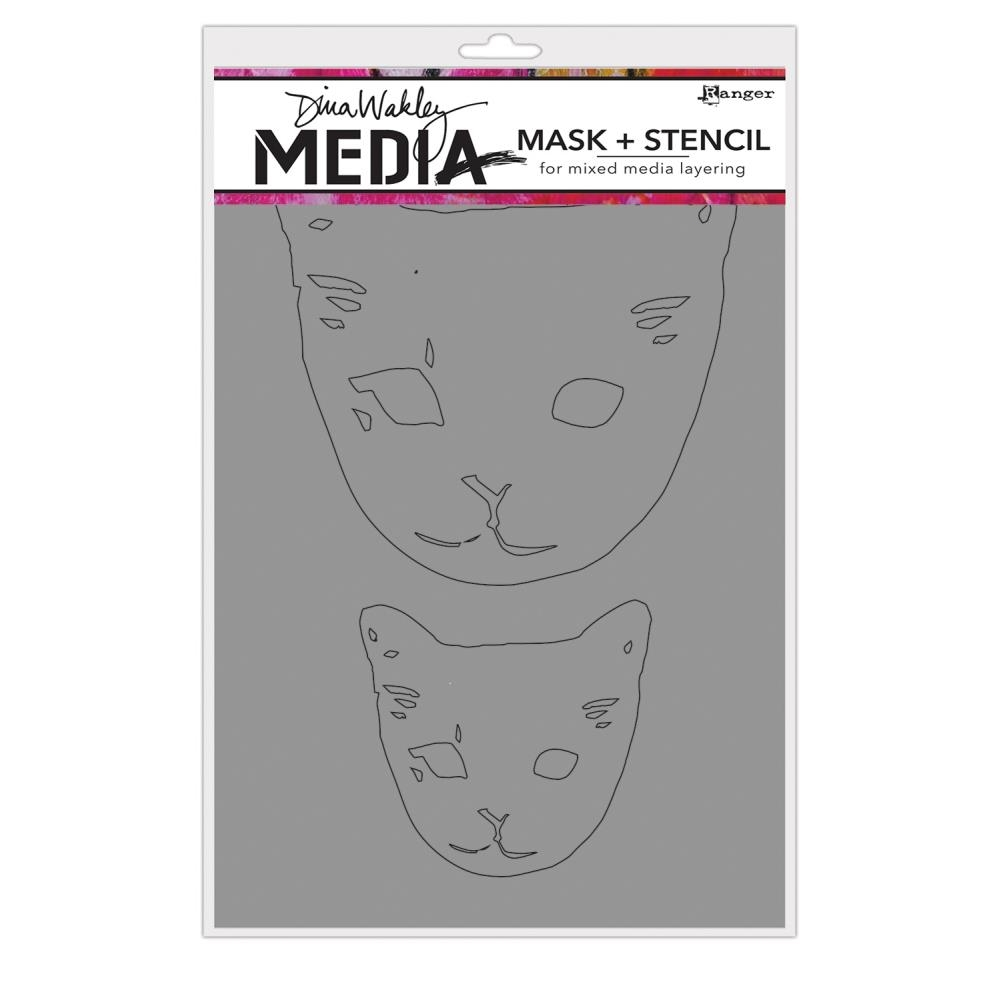 Dina Wakely CAT HEADS Media Mask and Stencil MDS65012 zoom image