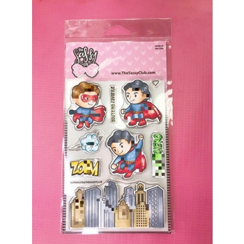 The Sassy Club SUPER DUDE Clear Stamps TSCL205*