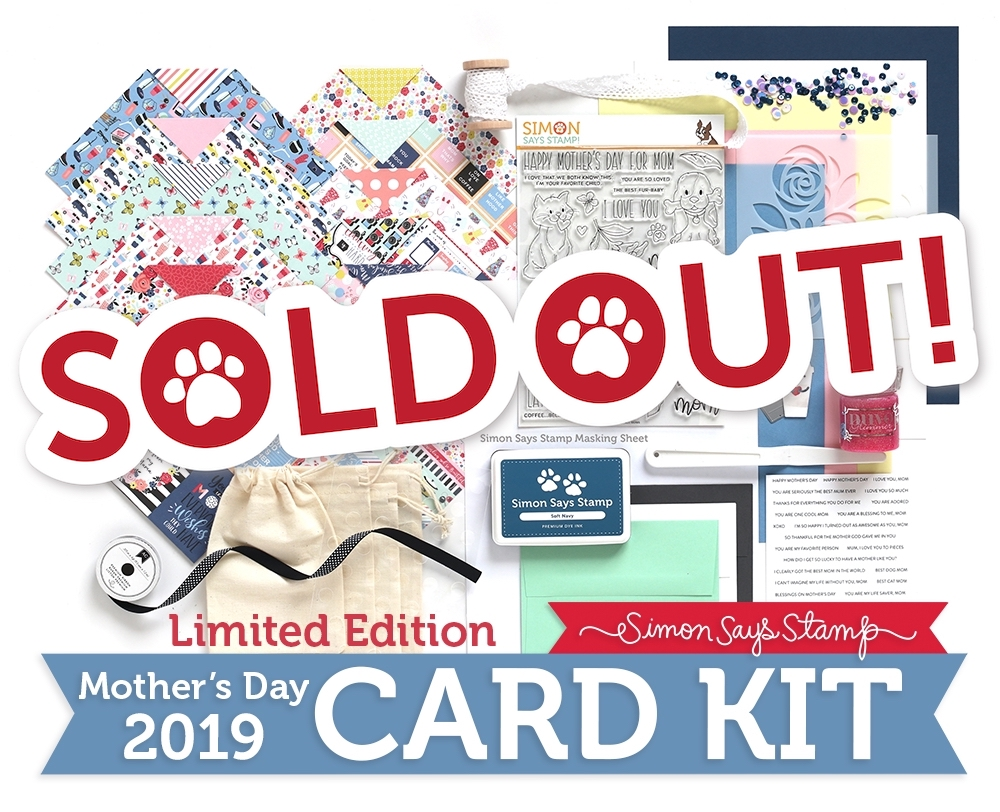 Limited Edition Simon Says Stamp Card Kit FOR ALL MOMS 2019 sssmdck19 Preview Image
