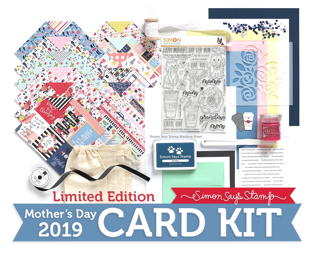 Limited Edition Simon Says Stamp Card Kit FOR ALL MOMS 2019 sssmdck19 zoom image