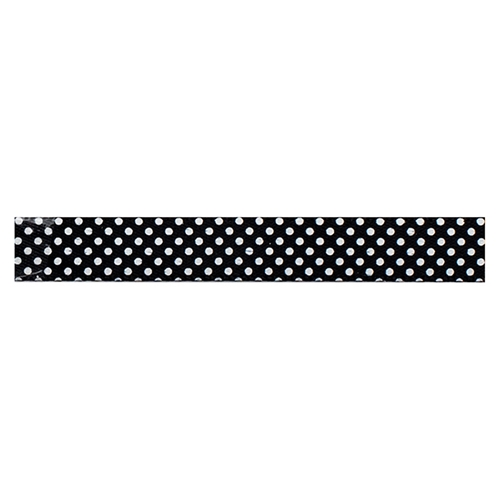 American Crafts BLACK WITH WHITE DOTS Ribbon Spool 94143 Preview Image