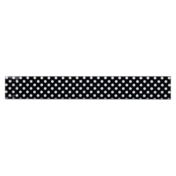 American Crafts BLACK WITH WHITE DOTS Ribbon Spool 94143
