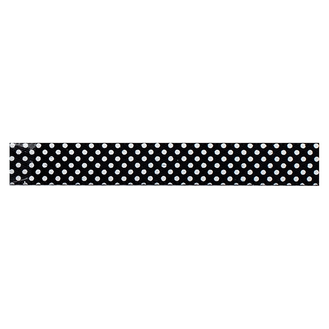 American Crafts BLACK WITH WHITE DOTS Ribbon Spool 94143 zoom image