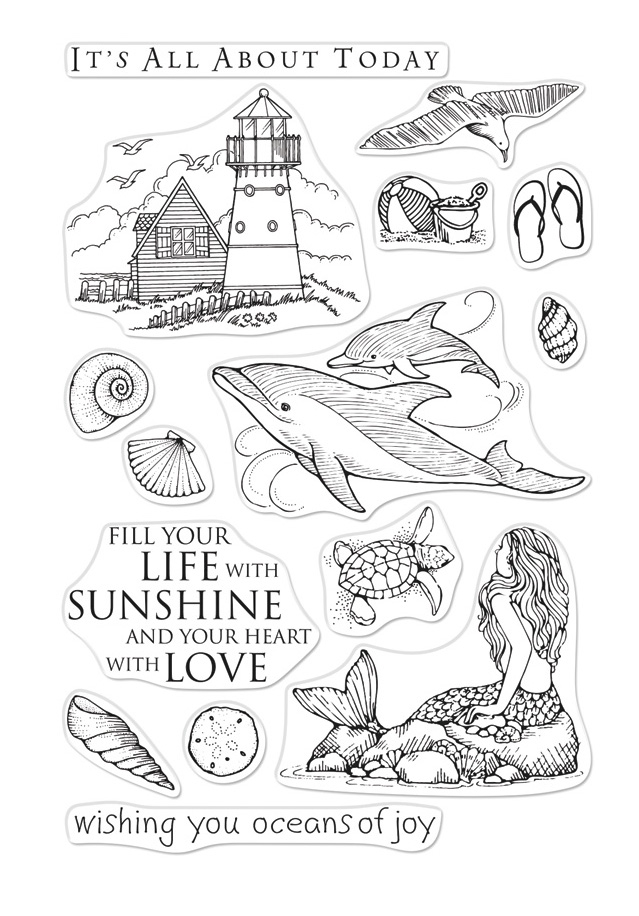 Hero Arts Clear Stamps FROM THE VAULT BEACH AND SEA CM361 zoom image