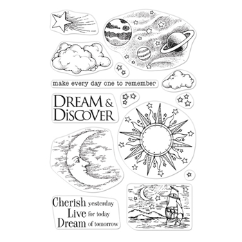 Hero Arts Clear Stamps FROM THE VAULT CELESTIAL CM357