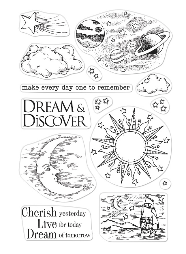 Hero Arts Clear Stamps FROM THE VAULT CELESTIAL CM357 zoom image