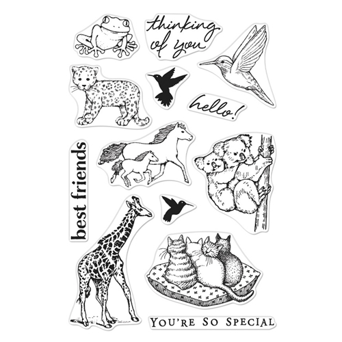 Hero Arts Clear Stamps FROM THE VAULT REALISTIC ANIMALS CM356 Preview Image