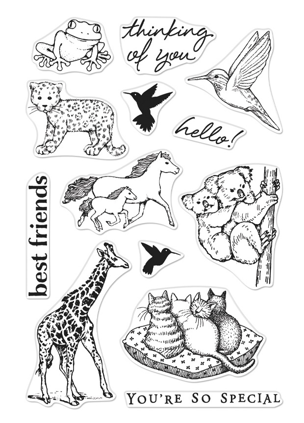 Hero Arts Clear Stamps FROM THE VAULT REALISTIC ANIMALS CM356 zoom image