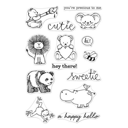 Hero Arts From The Vault Cute Animals Clear Stamp Set