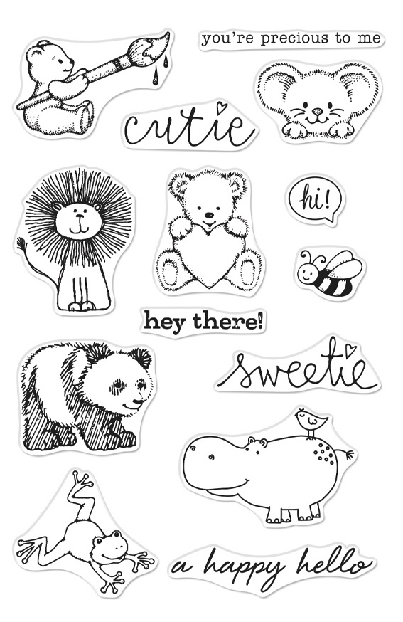 Hero Arts Clear Stamps FROM THE VAULT CUTE ANIMALS CM355 zoom image