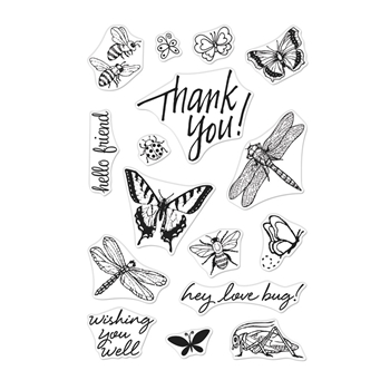 Hero Arts Clear Stamps FROM THE VAULT BUGS CM354
