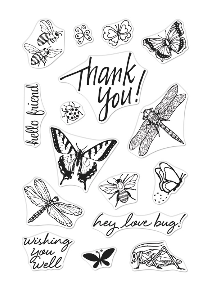 Hero Arts Clear Stamps FROM THE VAULT BUGS CM354 zoom image
