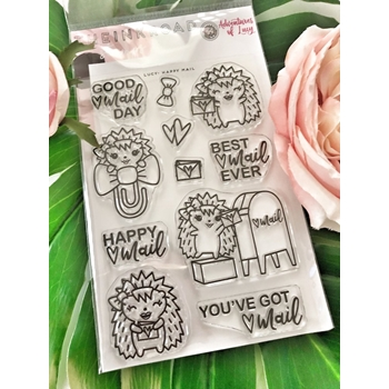 The Ink Road LUCY HAPPY MAIL Clear Stamp Set inkr070