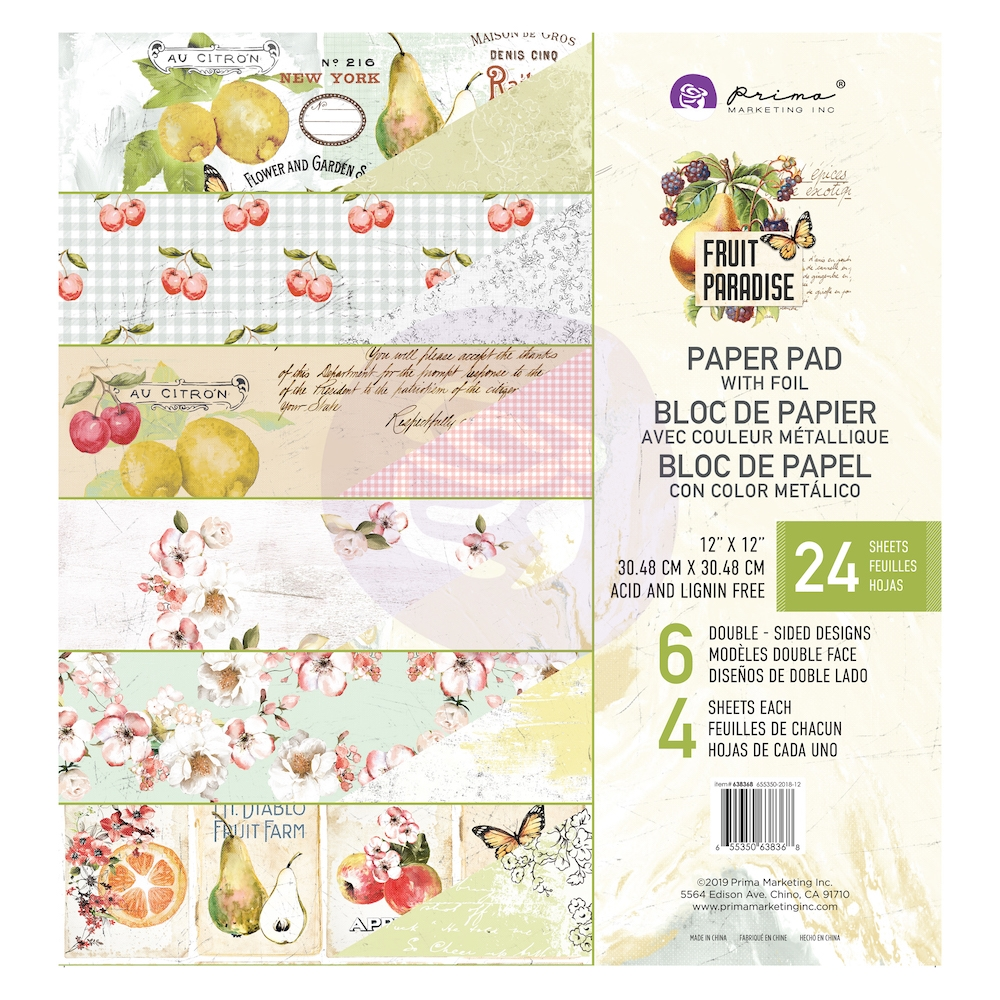 Prima Marketing FRUIT PARADISE 12 x 12 Paper Pad 638368 zoom image