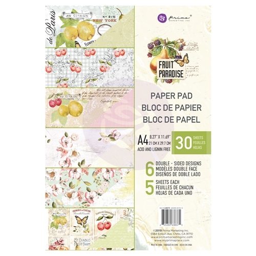 Prima Marketing A4 Paper Pad FRUIT PARADISE 638375 Preview Image